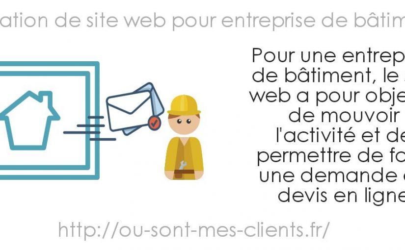 Création de site web pour entreprise de bâtiment