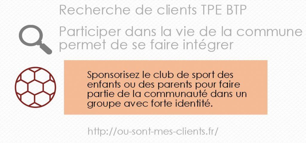 recherche client evenement sportif