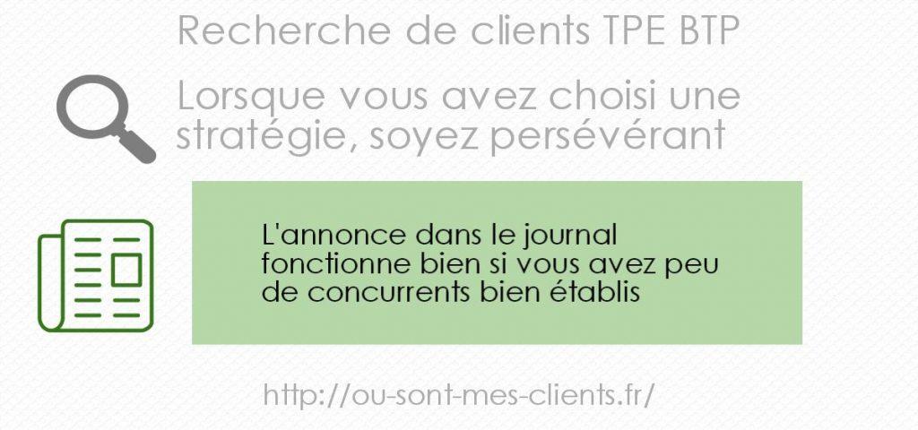 recherche de clients- annonce journal