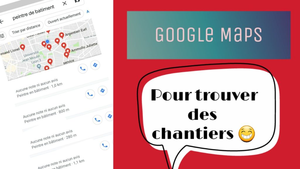 google maps pour trouver des chantiers ou sont mes clients. Black Bedroom Furniture Sets. Home Design Ideas