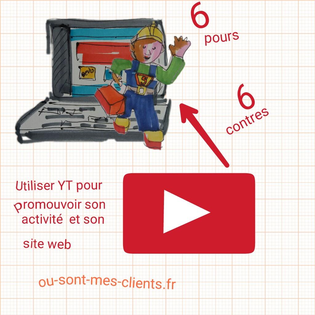 youtube pour promotion activite btp et site web