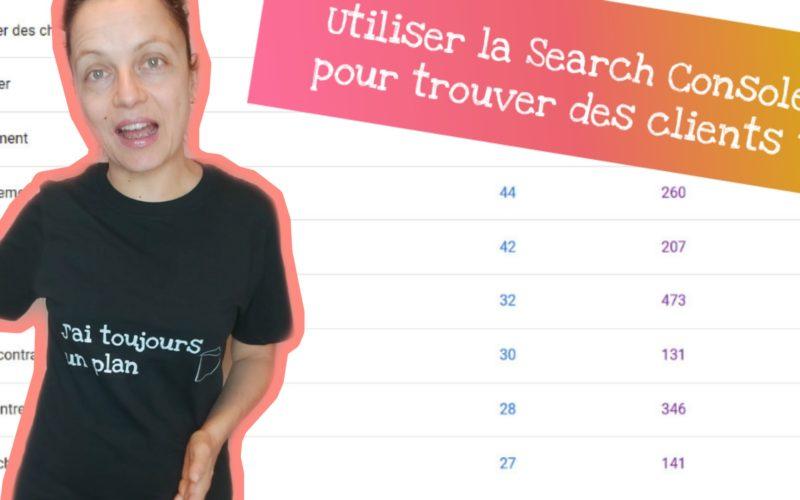 search console pour trouver des clients