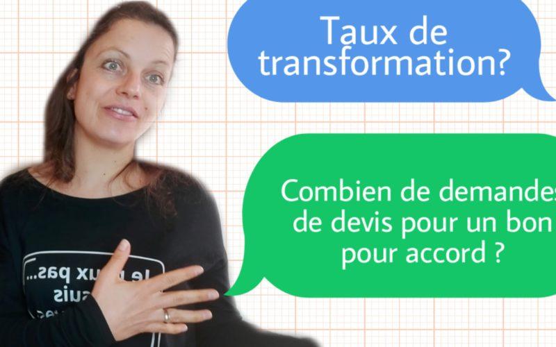 taux de transformation devis client