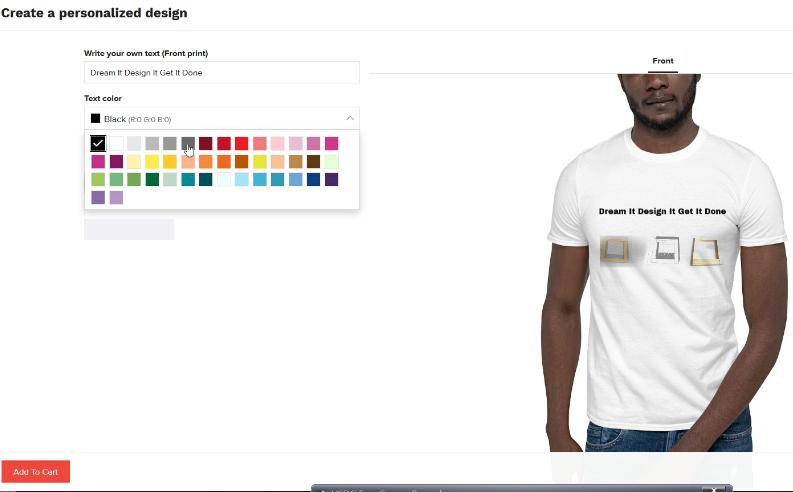 tee shirt personnalisé logo