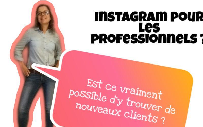 instagram pour professionnels